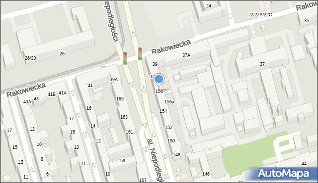 Warszawa, Aleja Niepodległości, 156, mapa Warszawy