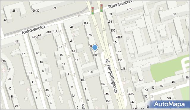 Warszawa, Aleja Niepodległości, 161, mapa Warszawy