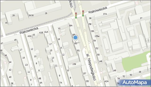 Warszawa, Aleja Niepodległości, 163, mapa Warszawy