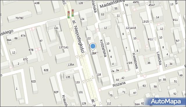 Warszawa, Aleja Niepodległości, 118A, mapa Warszawy