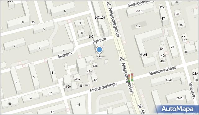 Warszawa, Aleja Niepodległości, 101, mapa Warszawy