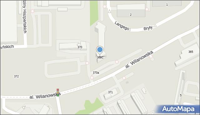 Warszawa, Aleja Wilanowska, 368C, mapa Warszawy
