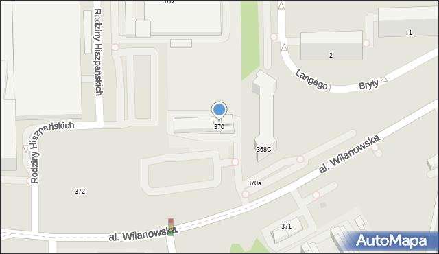 Warszawa, Aleja Wilanowska, 370, mapa Warszawy