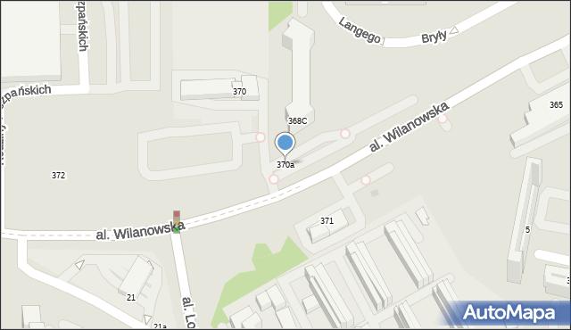 Warszawa, Aleja Wilanowska, 370a, mapa Warszawy