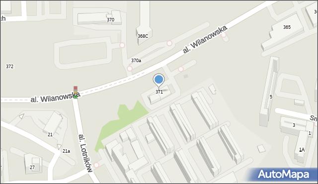 Warszawa, Aleja Wilanowska, 371, mapa Warszawy