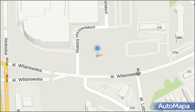 Warszawa, Aleja Wilanowska, 372, mapa Warszawy