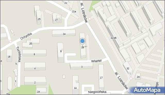Warszawa, Aleja Lotników, 19, mapa Warszawy