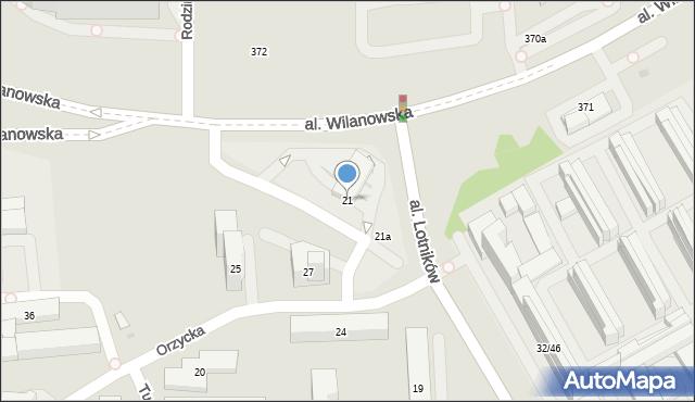 Warszawa, Aleja Lotników, 21, mapa Warszawy