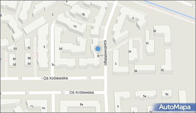 Warszawa, Aleja Wilanowska, 9, mapa Warszawy