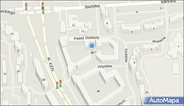 Warszawa, Aleja Komisji Edukacji Narodowej, 98u, mapa Warszawy