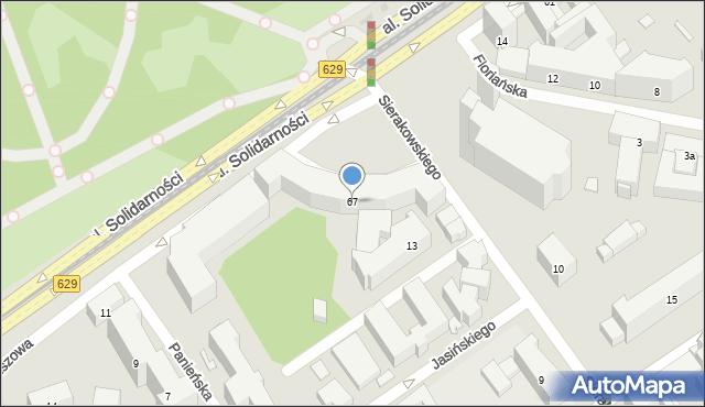 Warszawa, Aleja Solidarności, 67, mapa Warszawy