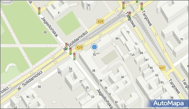 Warszawa, Aleja Solidarności, 51, mapa Warszawy