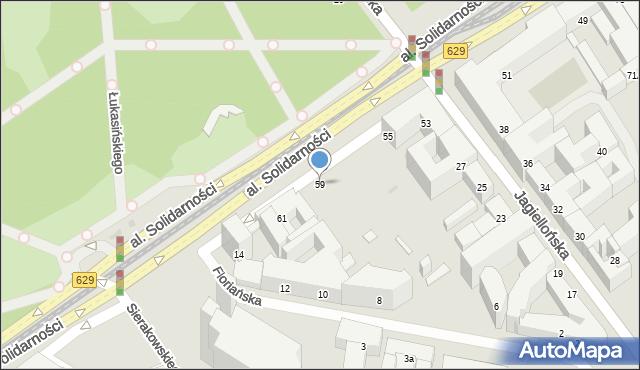 Warszawa, Aleja Solidarności, 59, mapa Warszawy
