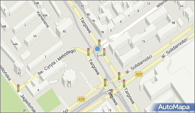 Warszawa, Aleja Solidarności, 3, mapa Warszawy