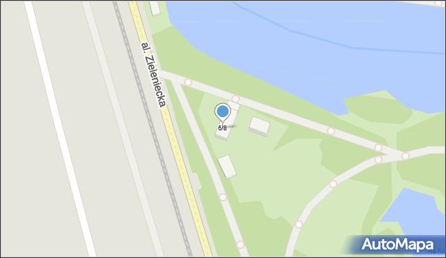 Warszawa, Aleja Zieleniecka, 6/8, mapa Warszawy