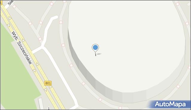 Warszawa, Aleja Księcia Józefa Poniatowskiego, 1, mapa Warszawy