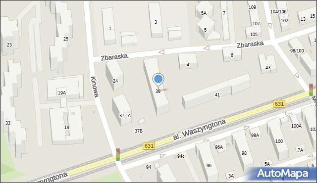Warszawa, Aleja Waszyngtona Jerzego, 39, mapa Warszawy