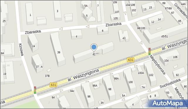 Warszawa, Aleja Waszyngtona Jerzego, 41, mapa Warszawy