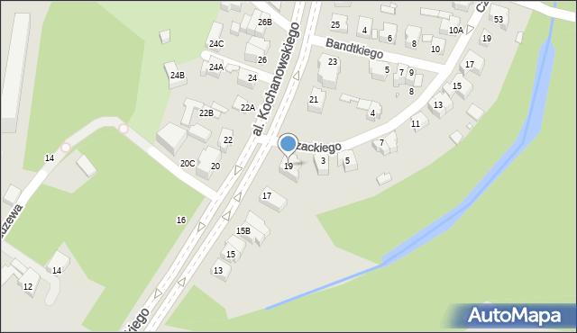 Wrocław, Aleja Kochanowskiego Jana, 19, mapa Wrocławia