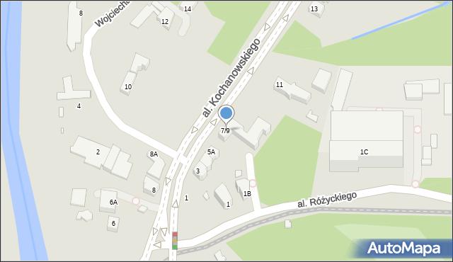 Wrocław, Aleja Kochanowskiego Jana, 7/9, mapa Wrocławia