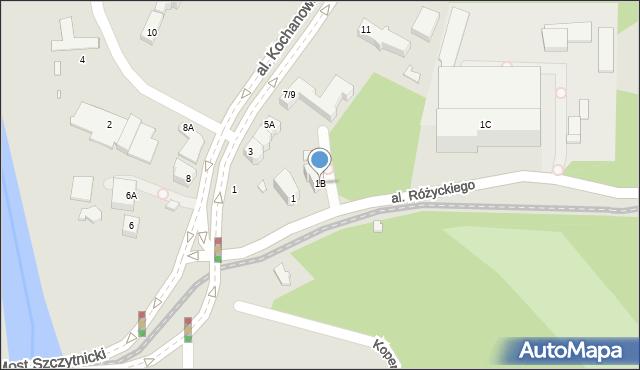 Wrocław, Aleja Różyckiego Ludomira, 1B, mapa Wrocławia