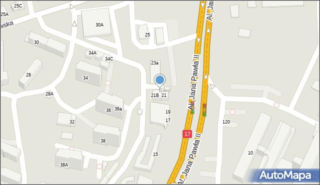 Zamość, Aleje Jana Pawła II, 21A, mapa Zamościa