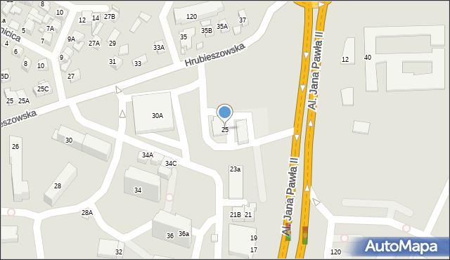 Zamość, Aleje Jana Pawła II, 25, mapa Zamościa