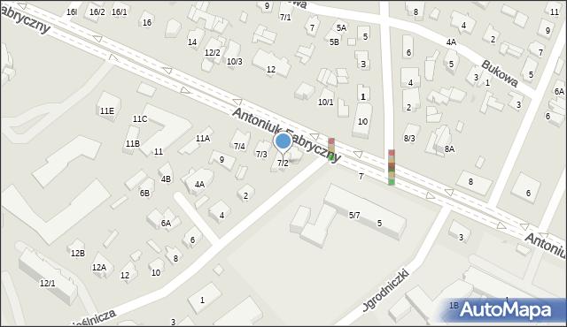 Białystok, Antoniuk Fabryczny, 7/2, mapa Białegostoku