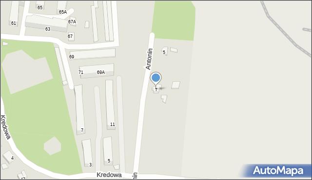 Chełm, Antonin, 7, mapa Chełma