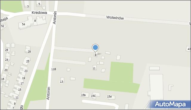 Chełm, Antonin, 9, mapa Chełma