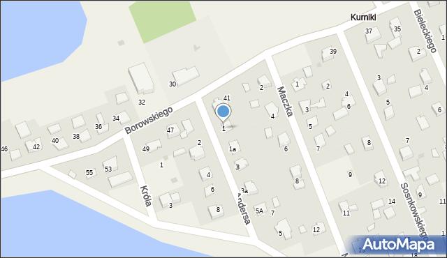 Harmęże, Andersa Władysława, gen., 1, mapa Harmęże