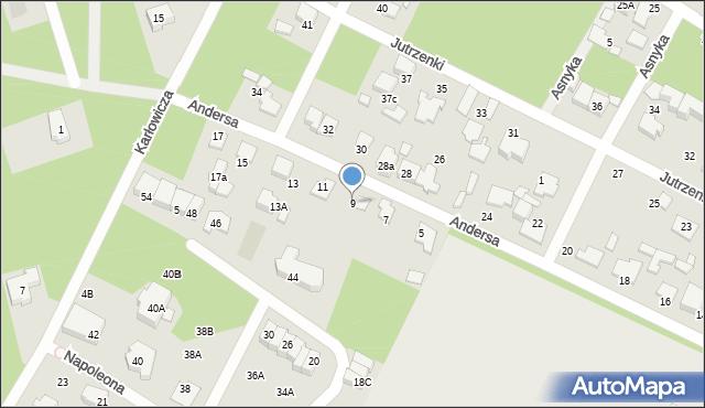 Marki, Andersa Władysława, gen., 9, mapa Marki