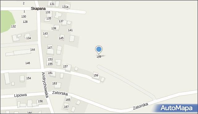 Piotrowice, Andrychowska, 149, mapa Piotrowice
