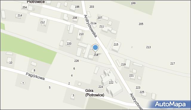 Piotrowice, Andrychowska, 218, mapa Piotrowice