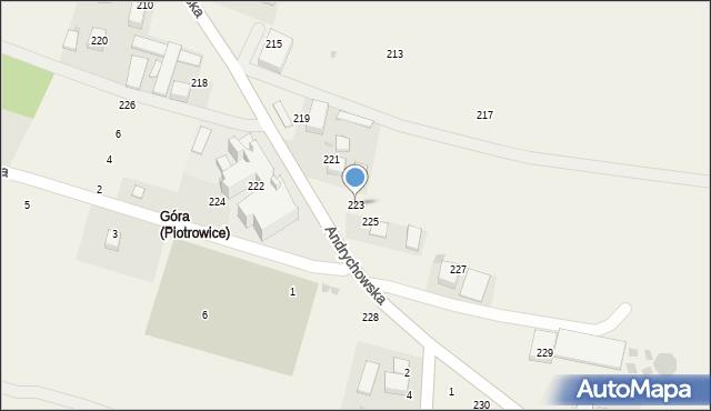 Piotrowice, Andrychowska, 223, mapa Piotrowice