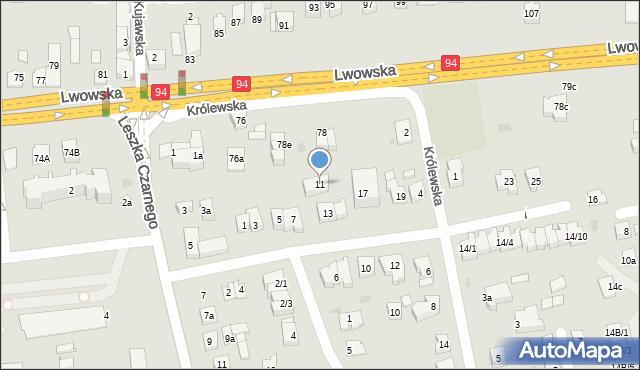 Rzeszów, Anny Jagiellonki, 11, mapa Rzeszów