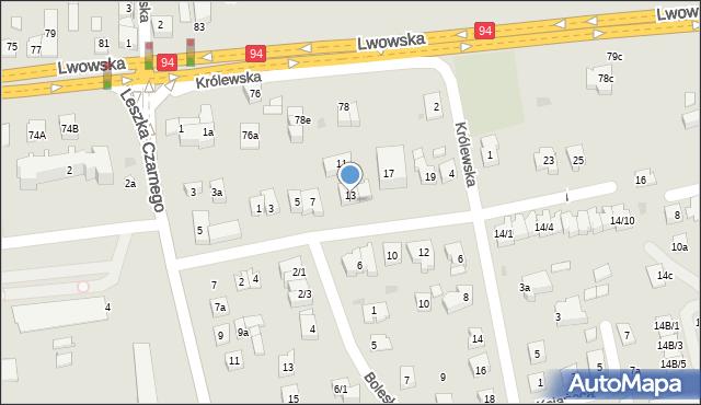 Rzeszów, Anny Jagiellonki, 15a, mapa Rzeszów