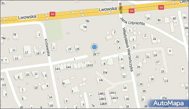 Rzeszów, Anny Jagiellonki, 16, mapa Rzeszów