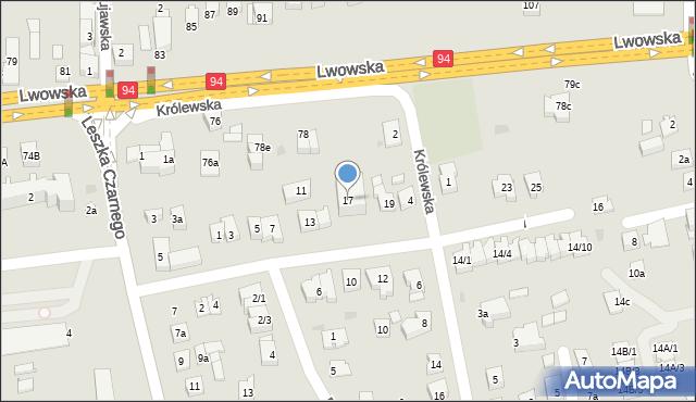 Rzeszów, Anny Jagiellonki, 17, mapa Rzeszów