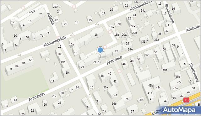Toruń, Antczaka Antoniego, 23, mapa Torunia