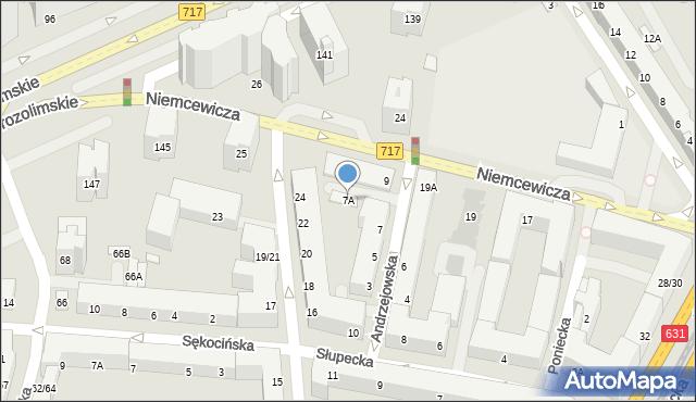 Warszawa, Andrzejowska, 7A, mapa Warszawy
