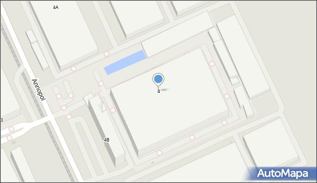 Warszawa, Annopol, 4, mapa Warszawy