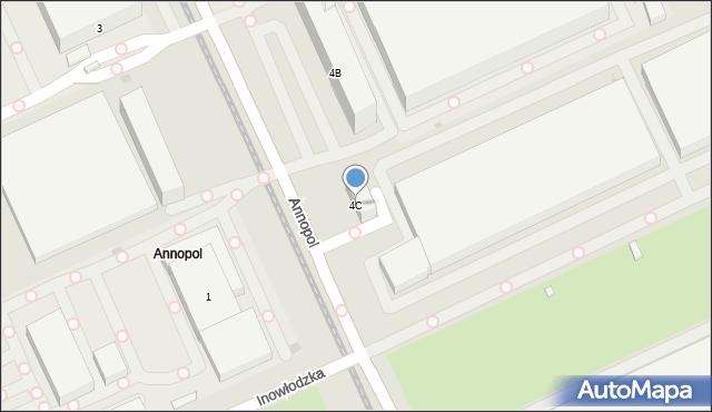 Warszawa, Annopol, 4C, mapa Warszawy
