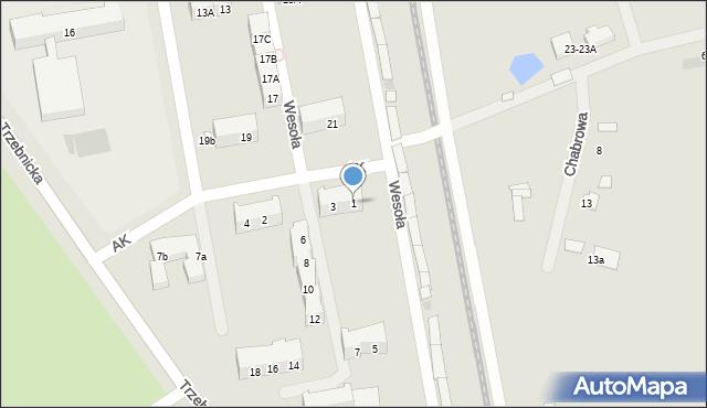 Chocianów, Armii Krajowej, 1, mapa Chocianów