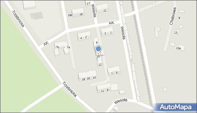 Chocianów, Armii Krajowej, 10, mapa Chocianów