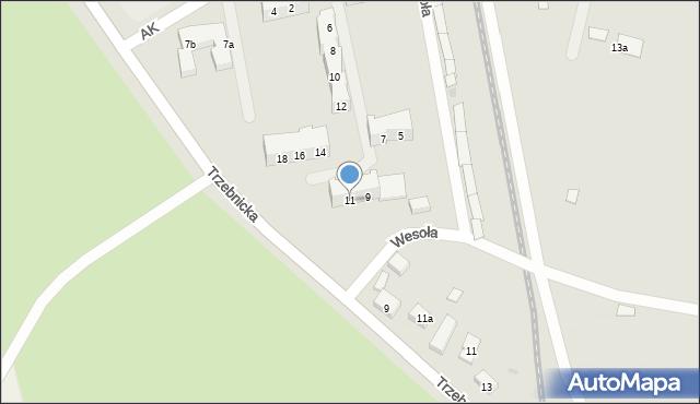Chocianów, Armii Krajowej, 11, mapa Chocianów