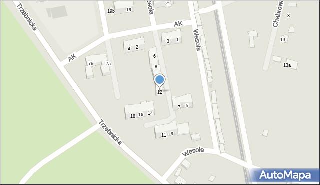 Chocianów, Armii Krajowej, 12, mapa Chocianów
