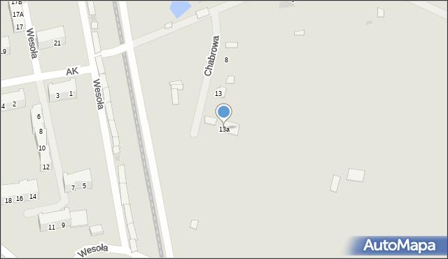 Chocianów, Armii Krajowej, 13a, mapa Chocianów
