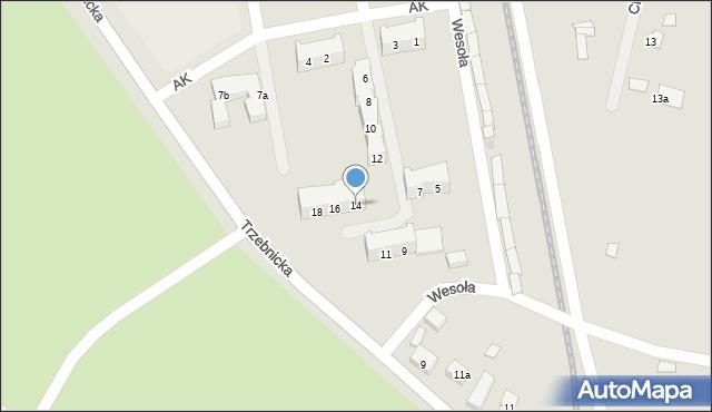 Chocianów, Armii Krajowej, 14, mapa Chocianów