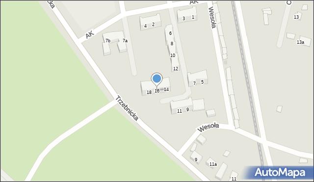 Chocianów, Armii Krajowej, 16, mapa Chocianów